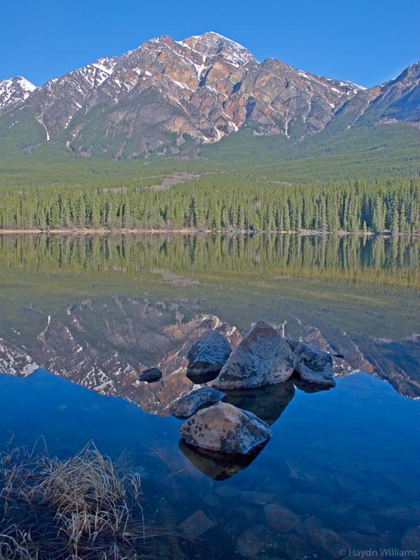 Pyramid Mountain & Pyramid Lake, Alberta. © Haydn Williams 2005