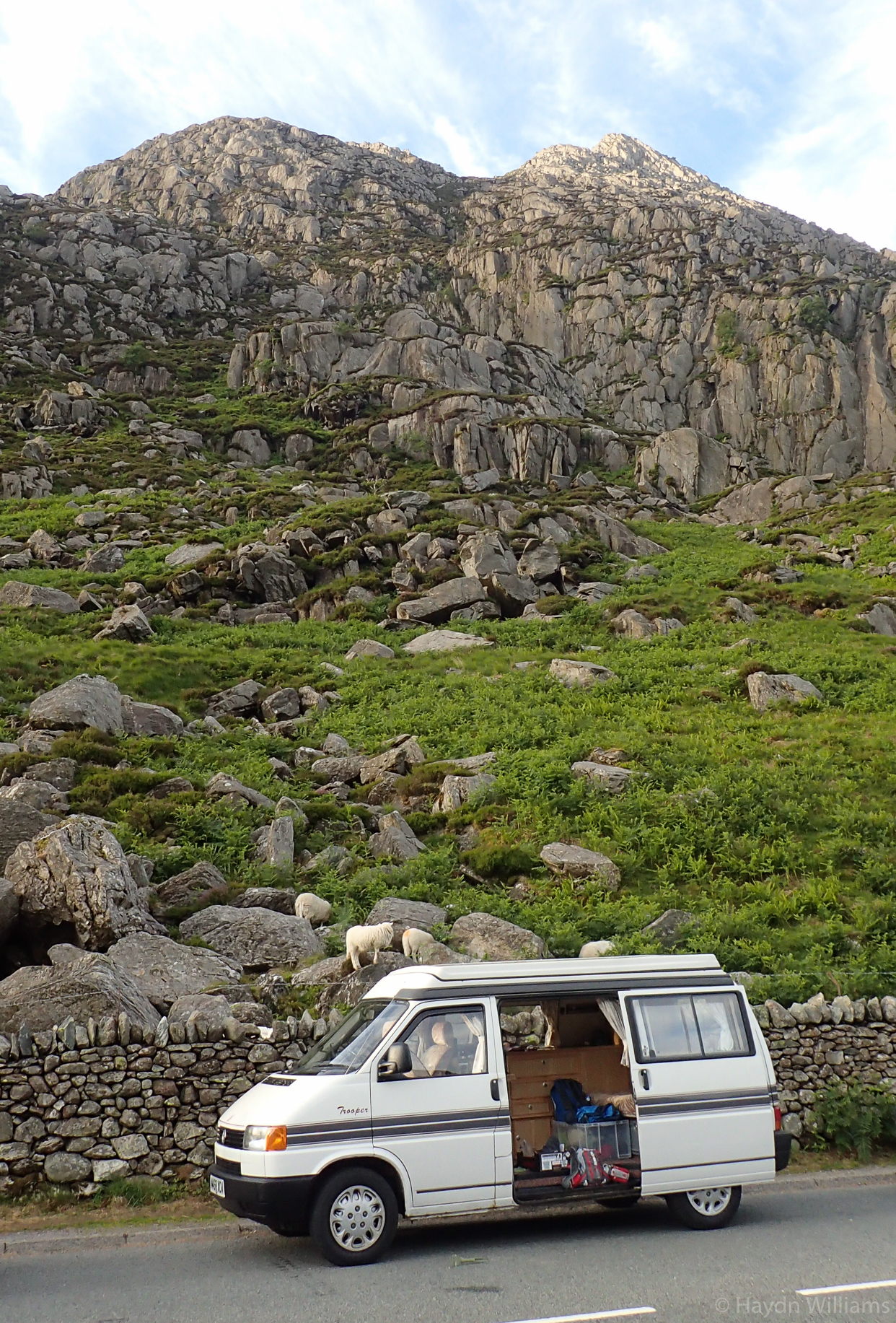 Looking good - the 'new' camper at the bottom of Tryfan. © Haydn Williams 2018