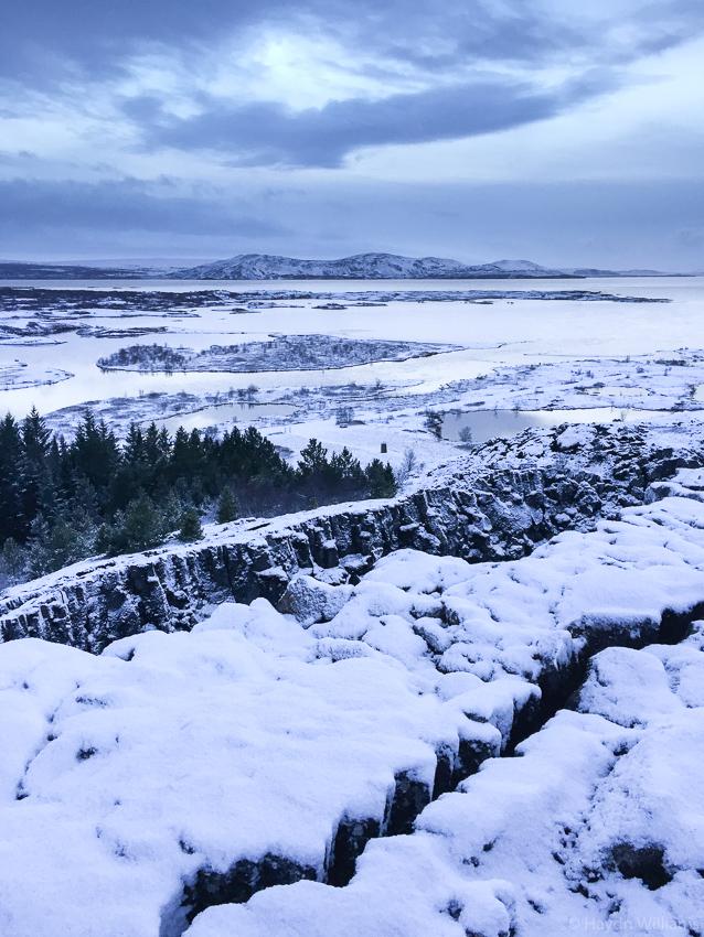 Almannagjá rift and Þingvallavatn lake, Þingvellir National Park. © Haydn Williams 2019