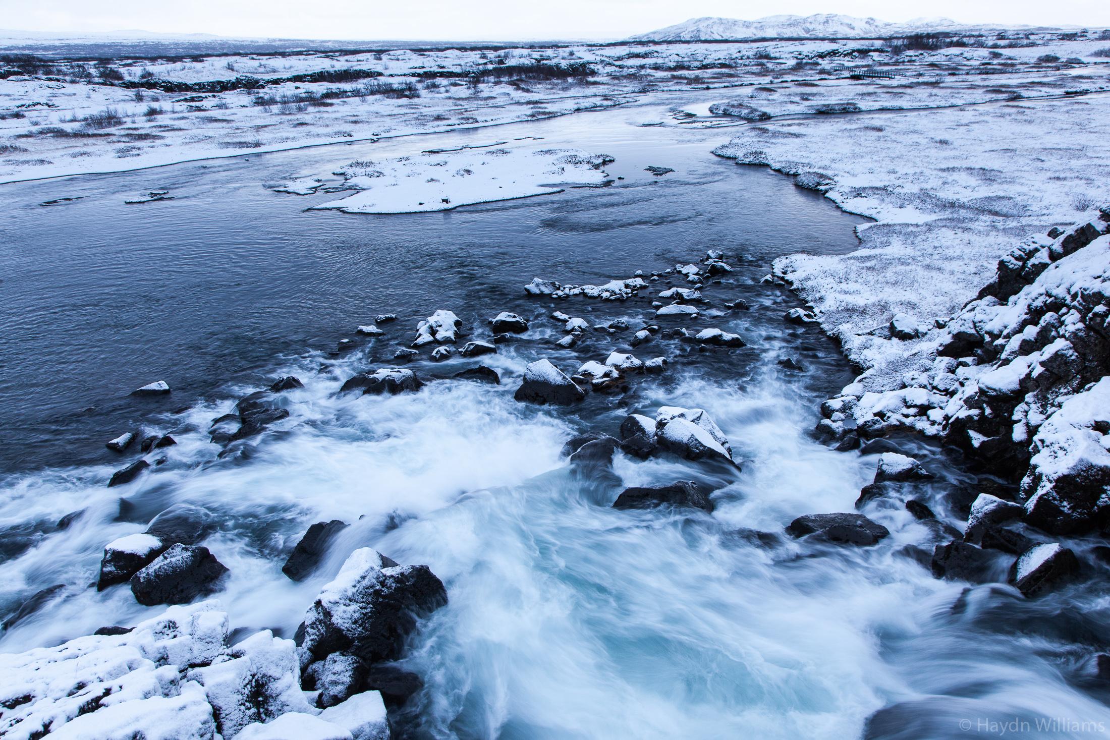 Öxará river at Drekkingarhylur, Þingvellir National Park. © Haydn Williams 2019