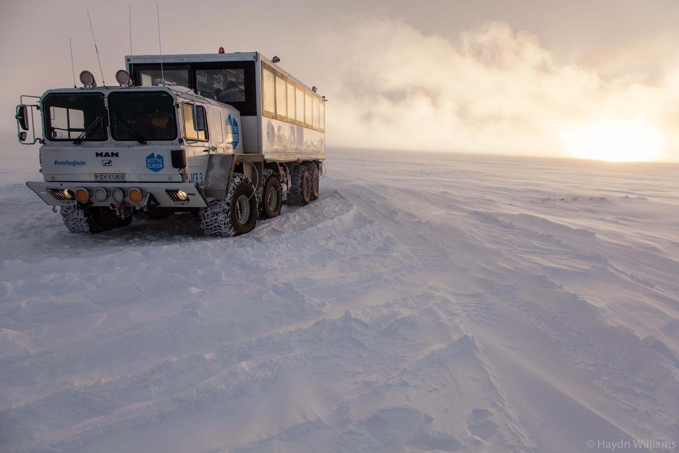 Atop the Langjökull glacier. © Haydn Williams 2019