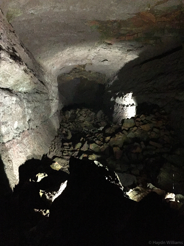 Inside Víðgelmir lava tube cave - the photo does not do it justice! © Haydn Williams 2019