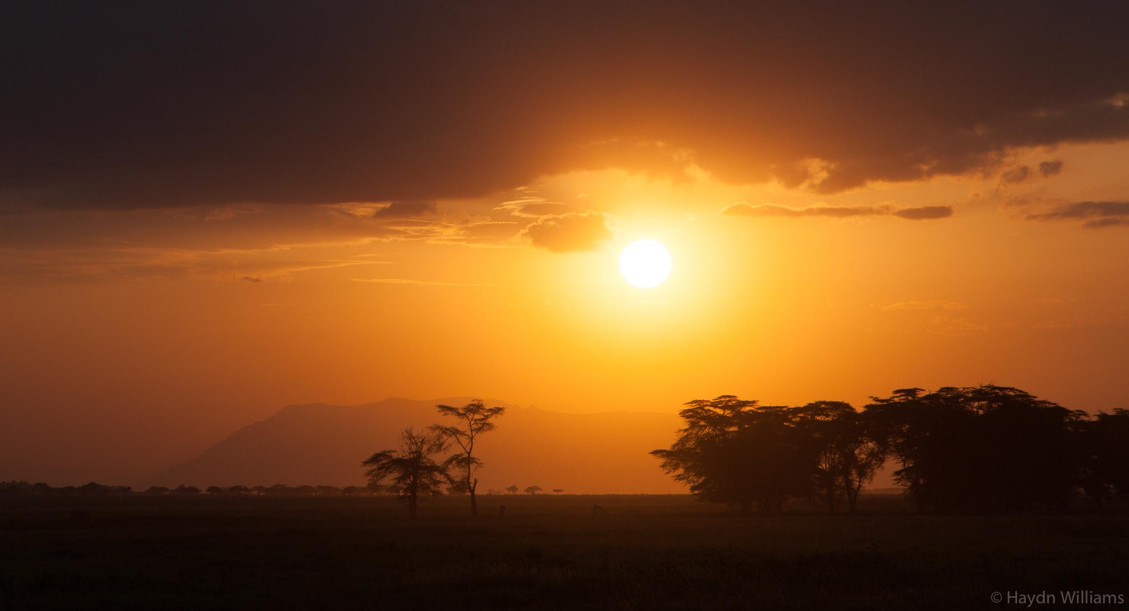 Amboseli sunset. © Haydn Williams 2019